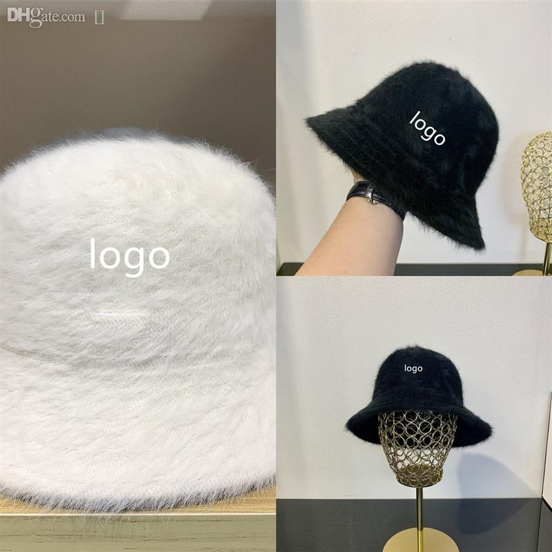 Cappelli femminili per le donne cappelli bowknot cappello cappello largo corrim floppy top secchio pesca inverno spessa calda panamaknitted cupola di pescatore # 946