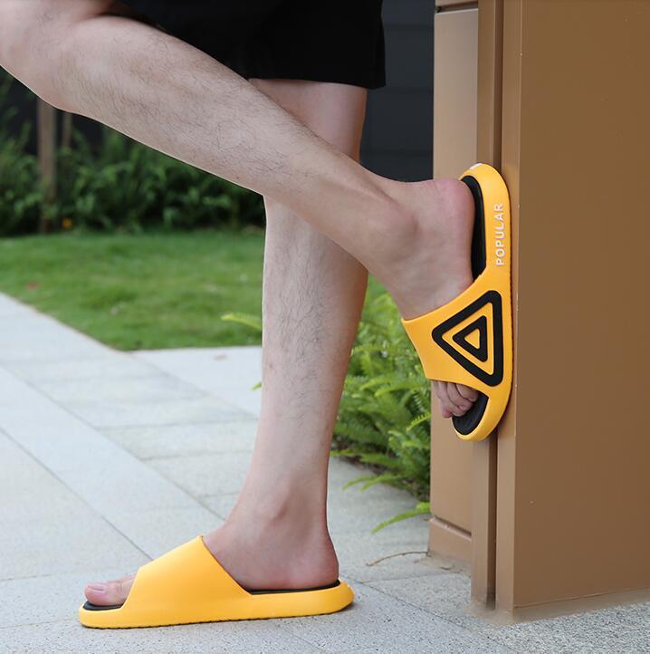 Erkek Kadın Sandalet Chaussures Beyaz Sarı Slaytlar Terlik Erkek Bayan Yumuşak Ev Plaj Otel Terlik Ayakkabı Boyutu 36-45 13
