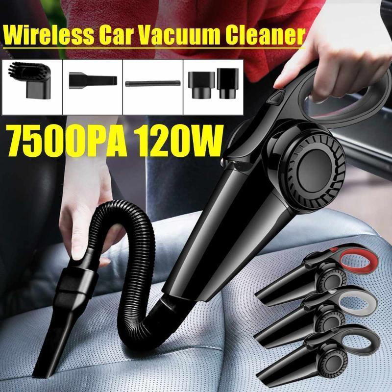 Автомобильный вакуумный очиститель автомобиль Ручной вакуумный очиститель Mini для аспиратера 7500PA мощные вакуумные очистители авто1