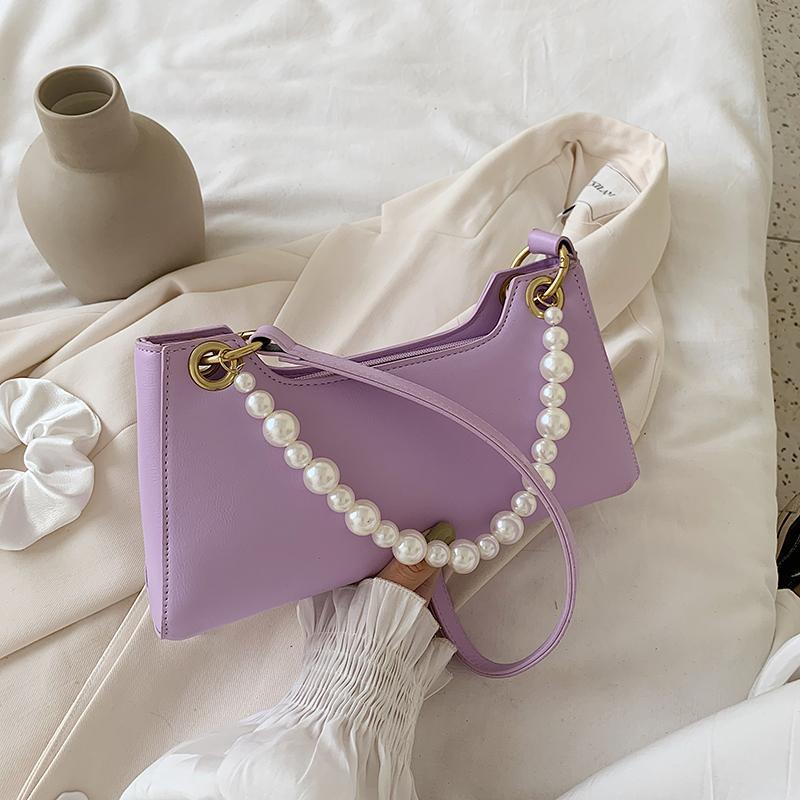 Spring Summer And Trendy Retro Handbags Woman PursePU Bag Pearl Bag Women Hobo Vintage Leather Designer Shoulder Female Bolsos Jdkfm