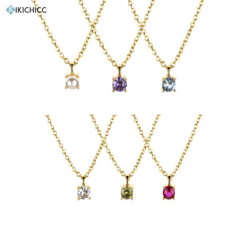 Kikichicc New 925 sterling argento oro lusso zircone fascino pendiente collana lungo catena lunga semplice sottile donne gioielli matrimonio