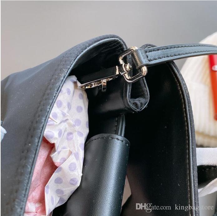 Mujeres Alta Crossbody Bolsa Nylon Bags Totes de calidad Bolsos de cuero con bolsa Bolsas de hombro Hombres Paño Original WWUOI JXDIL