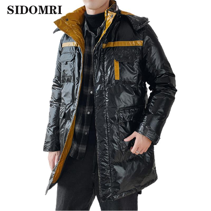 Men's Down Jacket Personalty Style Comfortable and Casual Keep Warm Gloosy Color Trendy Coat High Quality