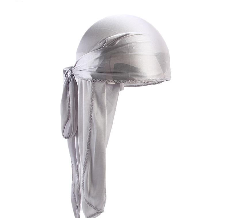 100pcs Nouvelle mode Satin Satin Durags Bandana Turban Perruques Hommes Silky Durag Headwear Bandeau Pirate Chapeau Jllqkn Toptrimmer
