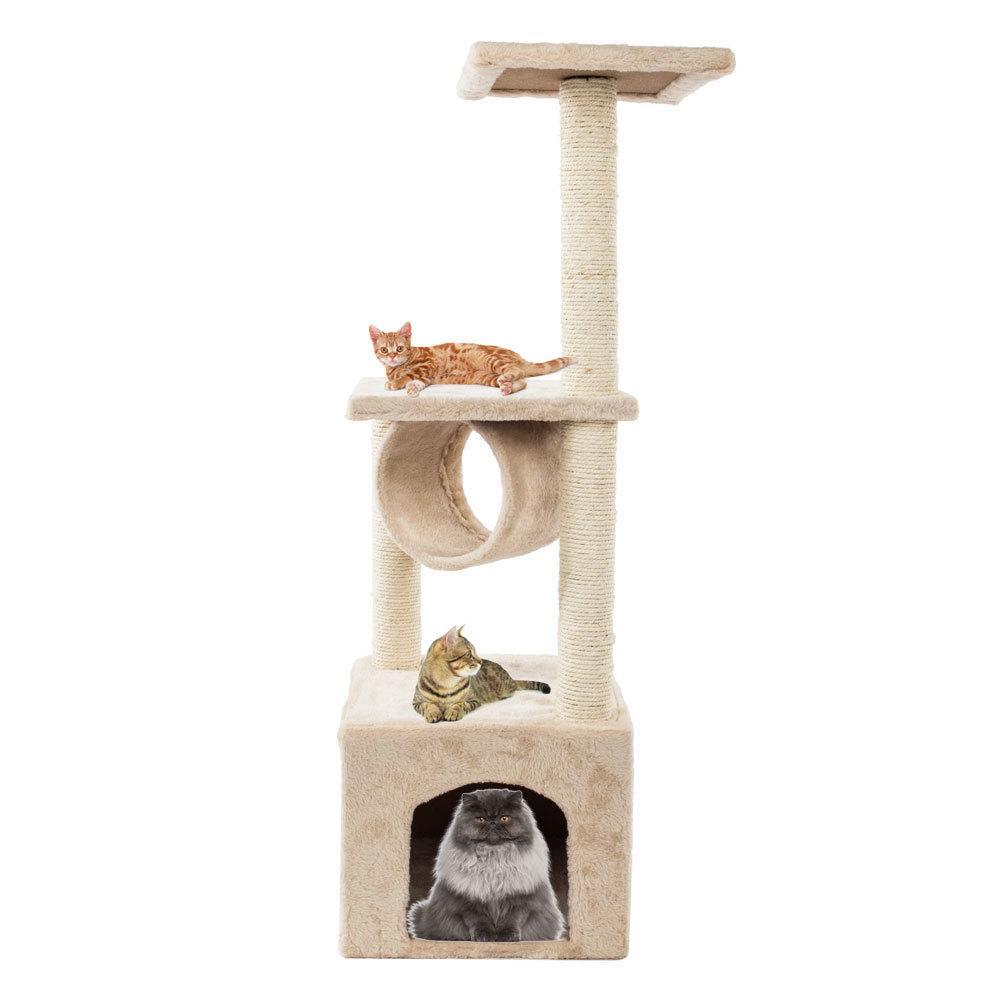 36 дюймов кошка дерево башня активность Центр большой игры в кондо-дерево кровать мебель царапая башня котенок домашний дом бежевый бесплатная доставка