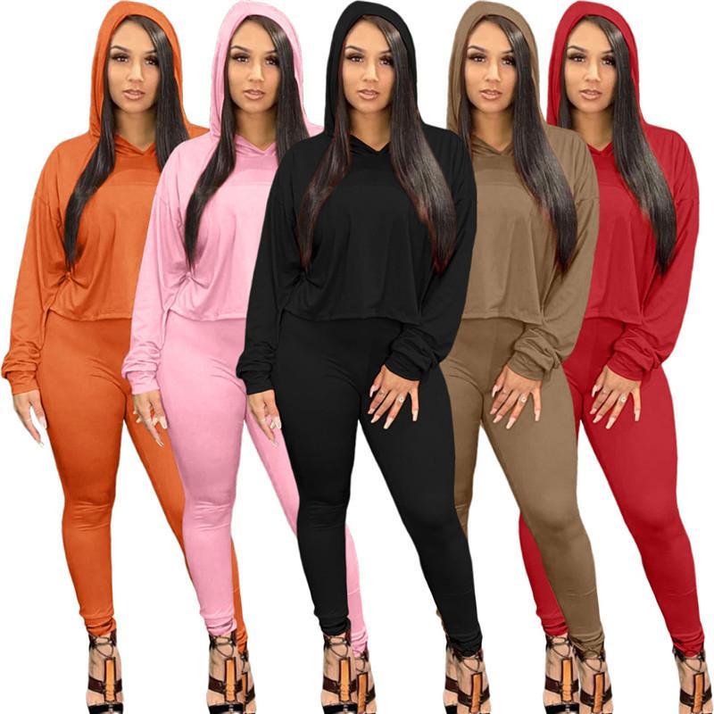 Vente chaude Femmes Tracksuit Tenue à manches longues Chemise Pantalons Deux Morceau Set Skinny Shirt Collants Suit Combusts Sport Pantalon H1733