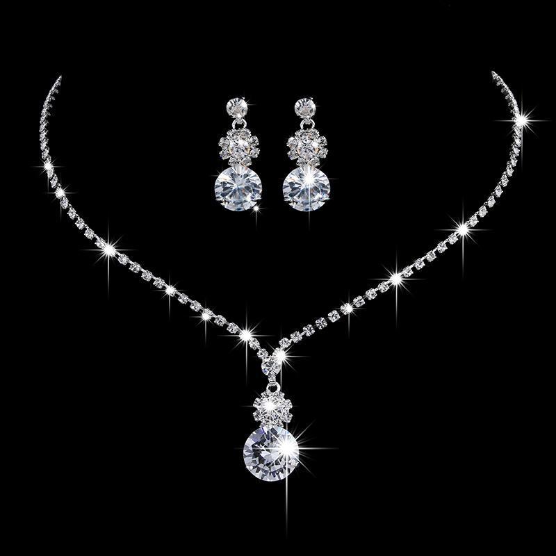 Dos piezas Set Hechas con Swarovski Crystal Style Sun Flower Sun Flowaid Austria Crystal Boda Collar Pendiente