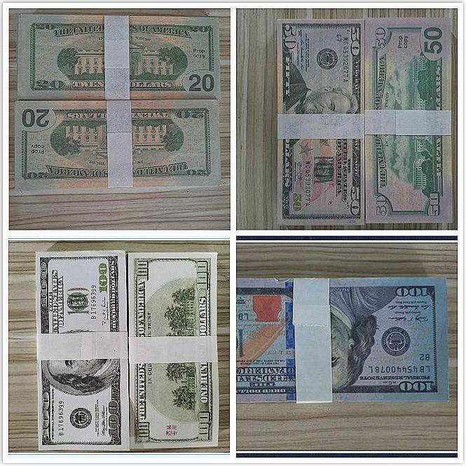 50 Geschenke Dollar Hot Festliche Fake Neue 20 Money-Filme 100 Prop-Dollar-Bank Verkaufszählung Prop-Geld-Anmerkungs-Party-Spiele-Sammlung US 08 OIDC