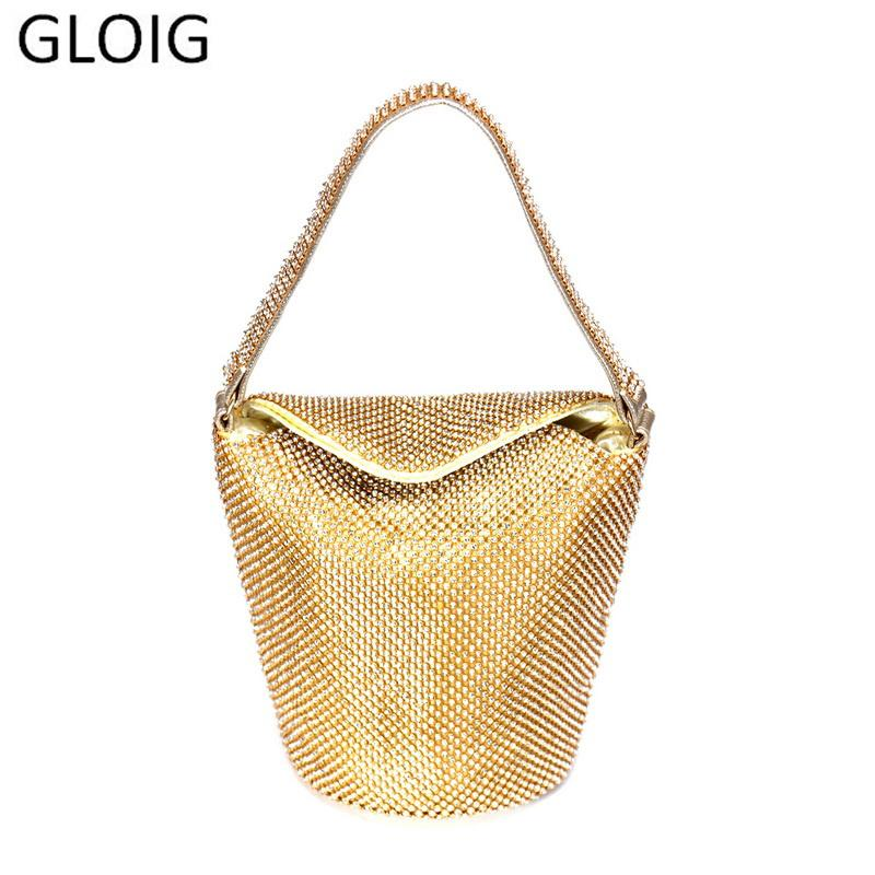 Women Gloig Cover Evening Bags Mixed Color Party Wedding Clutch Purse with Diamonds Handbags