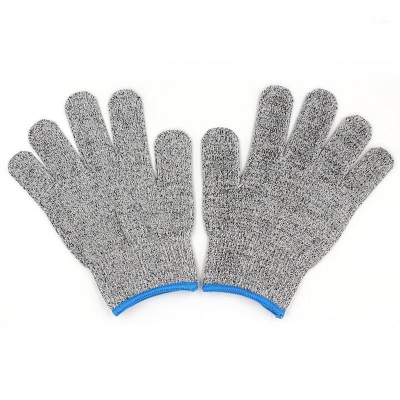 Одна пара / установленная прочная возможность использования рабочих защитных перчаток для устойчивого устойчивого Анти истирания 5 Кухонная резка Антирезание перчатки1