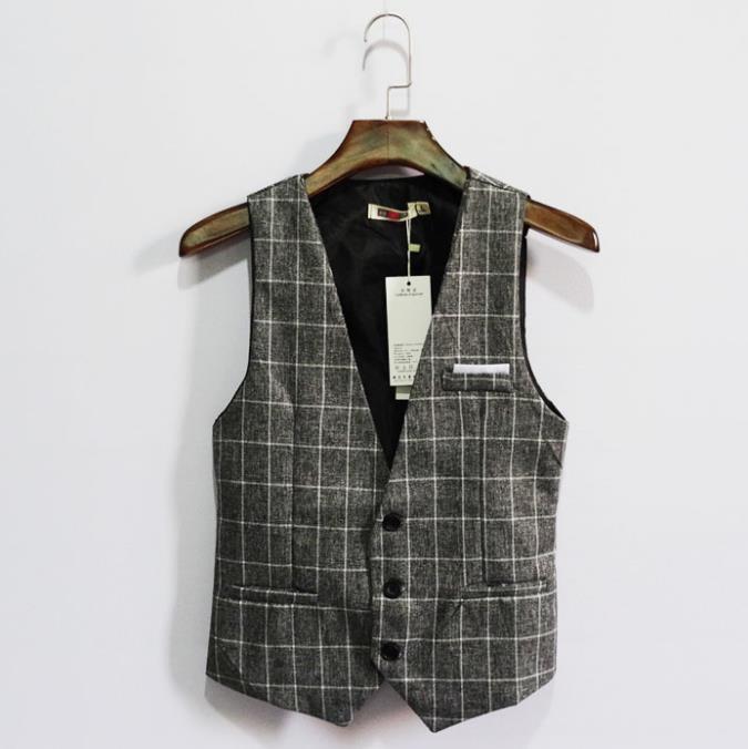 Vest en carreaux pour hommes Vintage England Slim Vest Gilet Homme Entreprise occasionnel Business professionnel Coréen Homme Vêtements Plus Taille 7XL