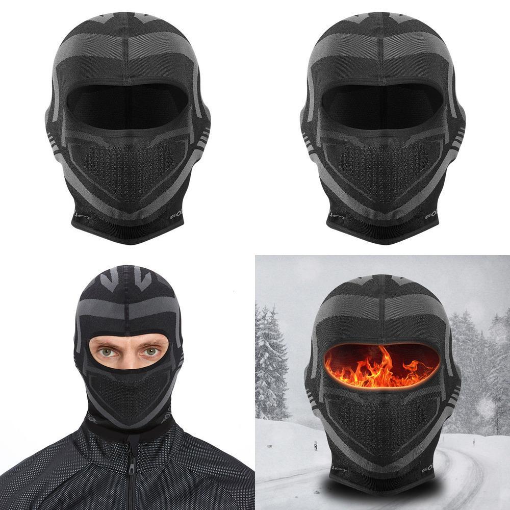 Cappello per il casco da sci pieno inverno High caldo elastico ciclismo elasticizzato BALACLAVA termica