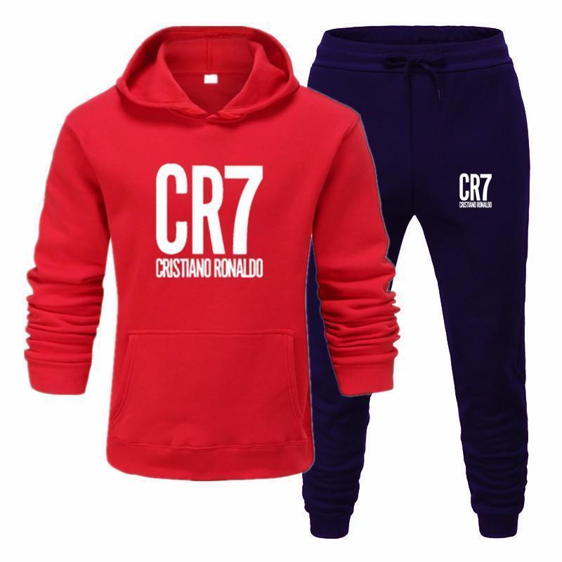 Conjuntos Estampado CR7 Para Hombre, Con Capucha + Pantalones Harajuku, Venta Al Por Bürgermeister, Trajes Deportivos, Sudaderas