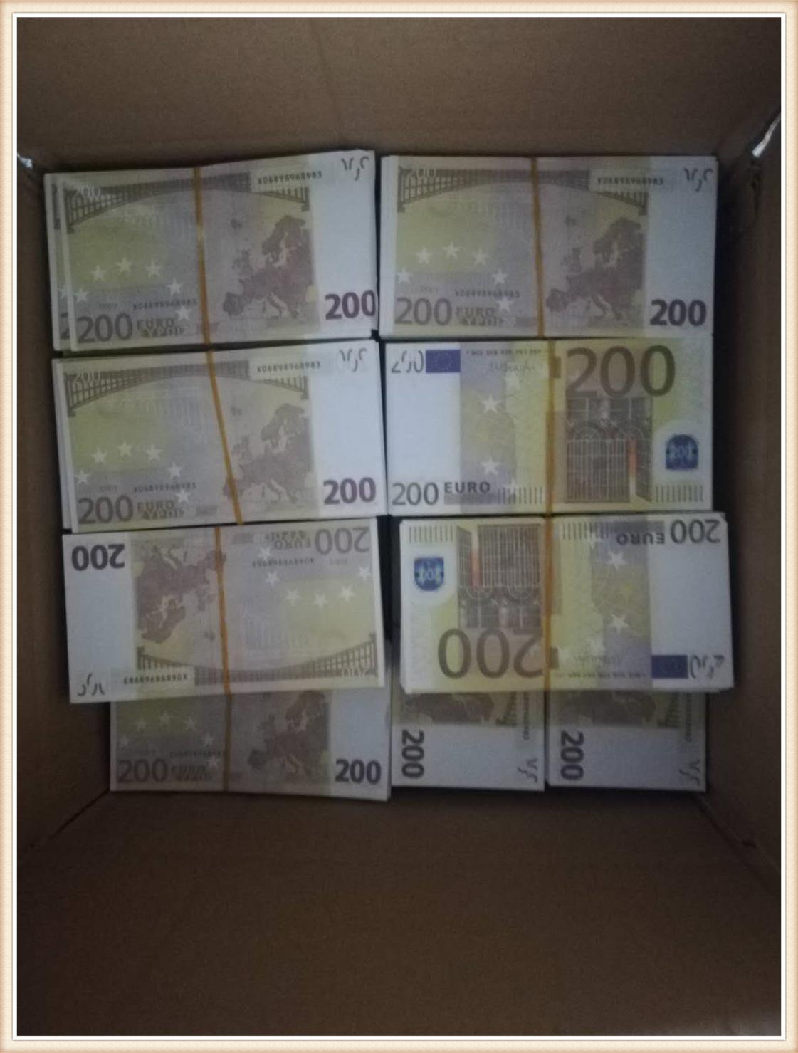 200 евро Играть в бумагу Напечатанные деньги игрушки для детей для детей Рождественские подарки или реквизиты фильма 014