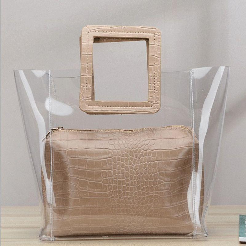 HBP composite bag messenger bag handbag purse new designer bag high quality fashion two in one Transparent Casual
