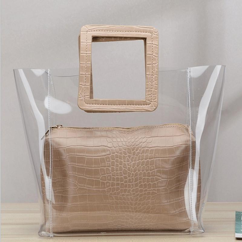 Borsa composito composito borsa casual borsa di moda in Designer HBP trasparente Nuove due Qualità Un Alto NogWG