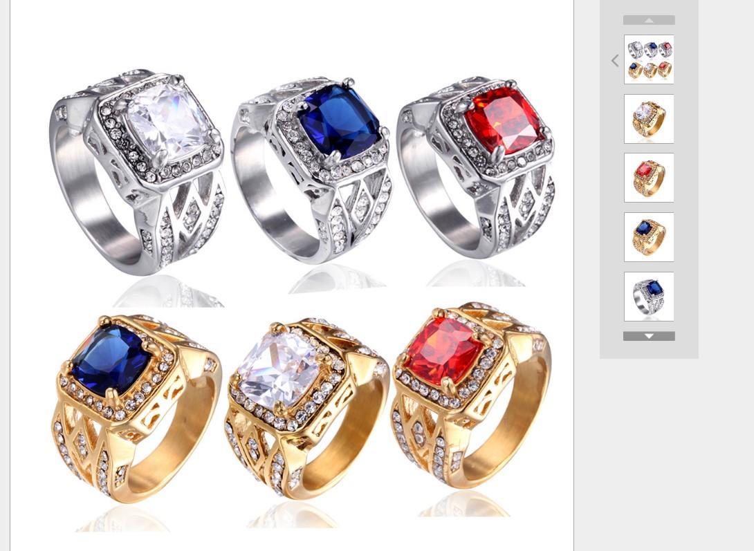 Прекрасный высококачественный бриллиантовый кристалл 925 серебряный размер 7-13