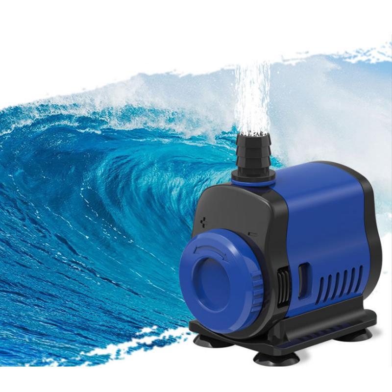 Strisciatura della pompa della fontana della fontana ad ultra-silenziosa del filtro della fontana della fontana del pesce, la pompa dell'acqua regolabile La spugne del filtro del fondo incluso Y200922