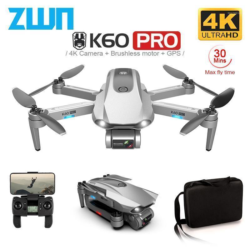 ZWN K60 GPS Drone с 5G WiFi FPV 4K HD Dual Camera Бесщеточный Оптический поток RC Quadcopter Следуйте за мной Мини Дрон VS SG108 EX51