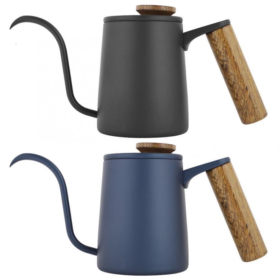 350 ml moda manija de acero inoxidable goteo boten de cisne largo cuello de cuello de cuello de agua olla de agua vertiente café con cubierta de cocina herramienta