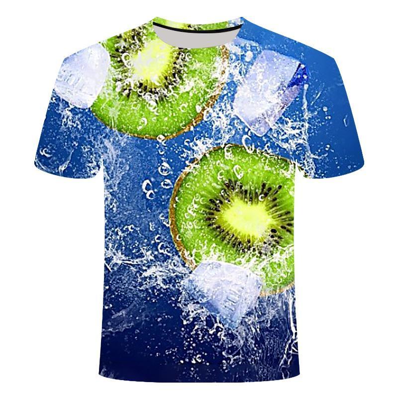 Camisetas para hombre Camiseta casual de verano 3D Hombres Fruit Imprimir Fresco Camiseta de manga corta Tshirt Shorts para hombre Streetwear Homme Hip Hop 2021