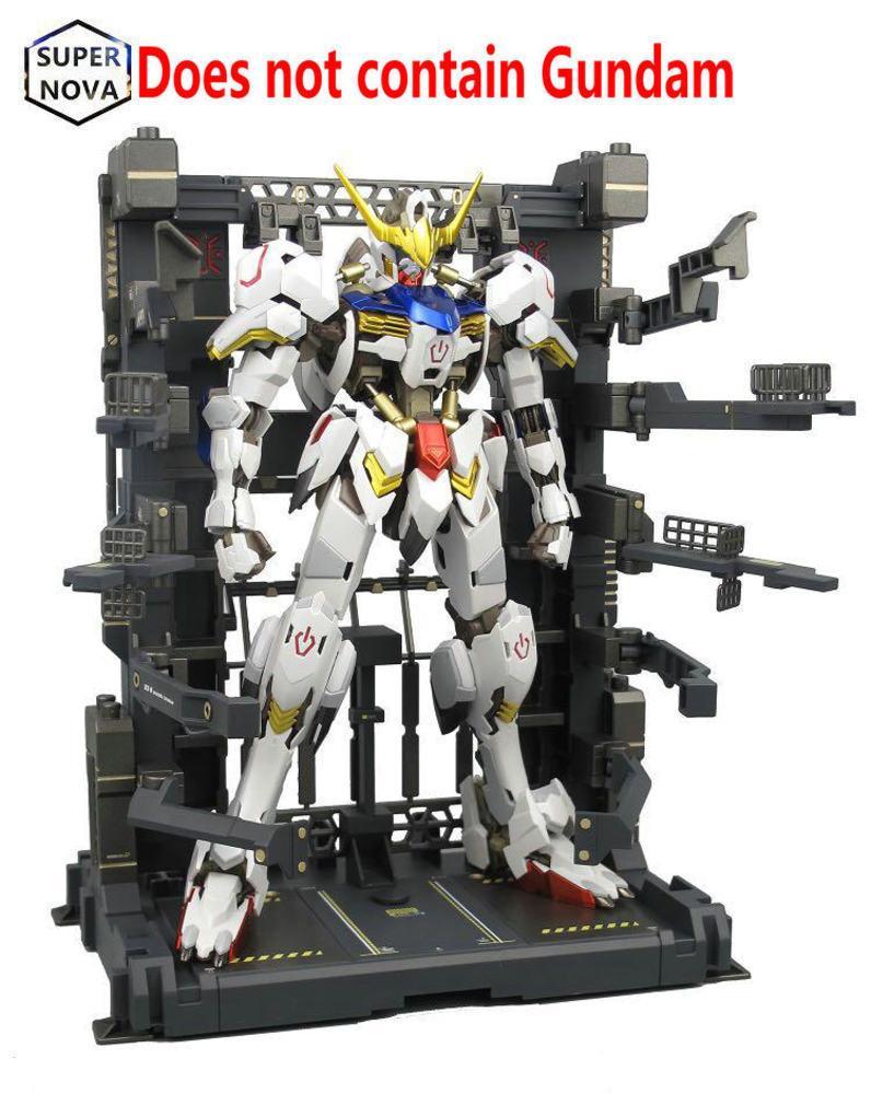 BW Gundam MG 1: 100 Ангар Оборудование для обслуживания оборудования стойки Опора Рама аниме Действие Рисунок Модель Наборы + Водный пост