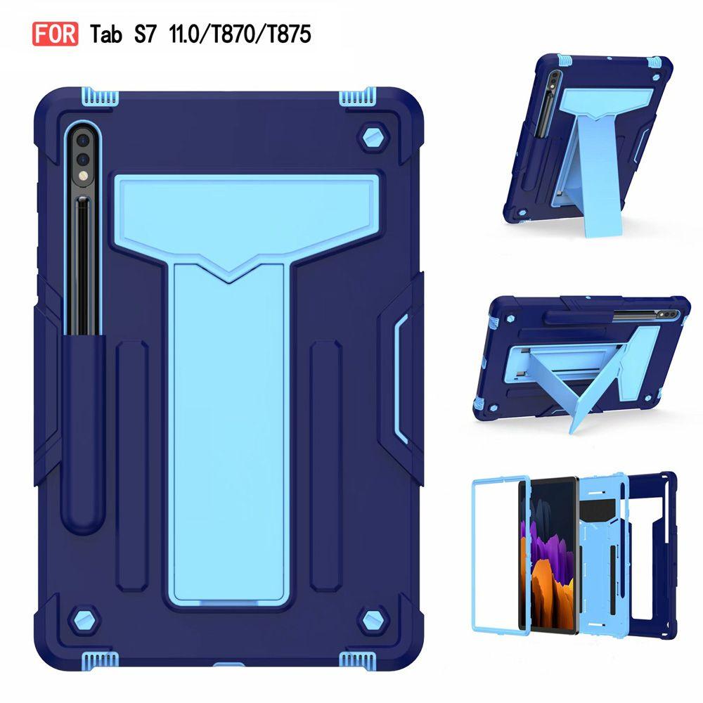 Cas de comprimé robuste antichoc pour Samsung Galaxy Tab S7 Funda SM-T870 Hard Armure Armure robuste Hard Couverture