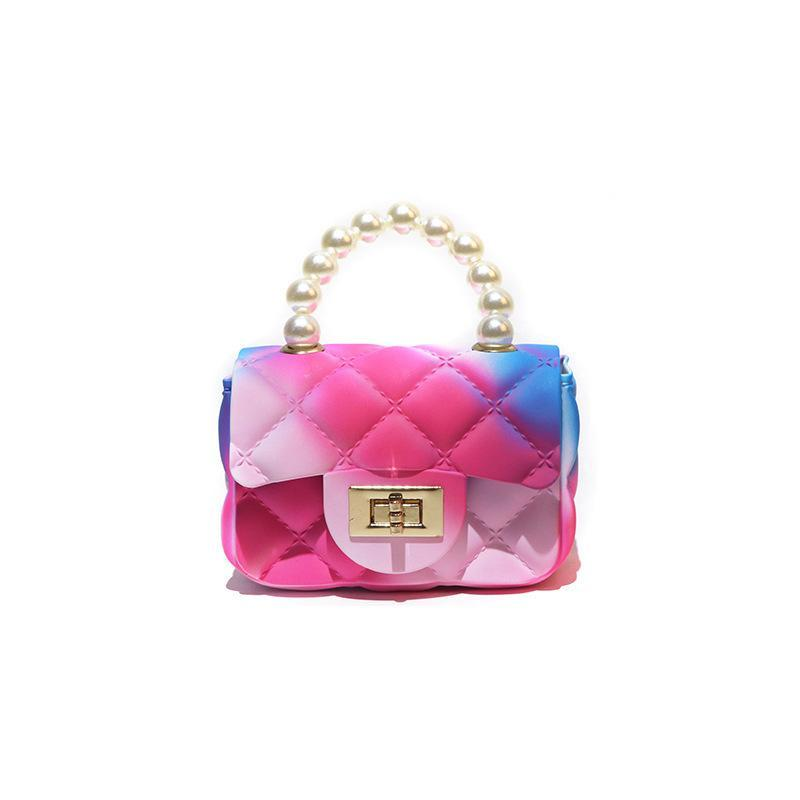 النساء مصغرة حقائب حمل لطيف الحلوى اللون جيلي crossbody حقائب للبنات صغيرة عملة الحقيبة الطفل حزب اللؤلؤ حقائب اليد محفظة