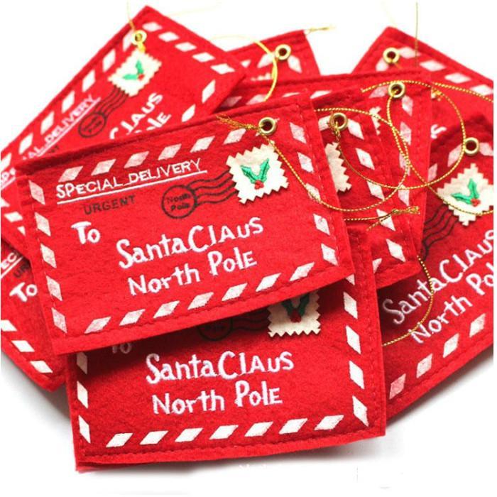 Titulaires de cartes-cadeaux de Noël Boîte-cadeau Boîte de bonbons avec enveloppes Titulaire de la carte d'argent de Noël rouge YHM582