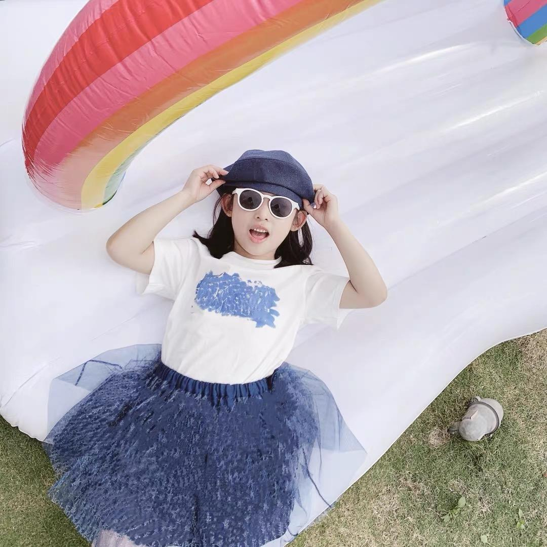 Hot baby girls t shirt with skirt 2pcs/suits 2021 summer Fashion kids girl short sleeve shirt Children birthday Print skirt set tops