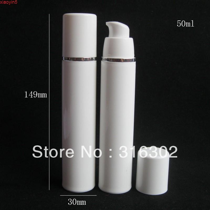 20 x 50 ml Blanco vacío de la botella de la bomba de la plantilla de la loción sin aire para el uso cosmético 5 / 3oz ContenedoresBood Product