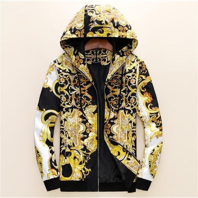 Бесплатная доставка Высокое качество Цифровой печати Куртка Slim Spring Осень Новое пальто Мужские Куртки Мужская Одежда Вершина Одежда A-01 201128