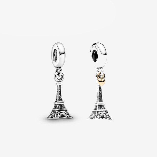 Nova moda s925 prata esterlina torre eiffel temperamento pingente, luz de luxo e versátil jóias acessórios, frete grátis
