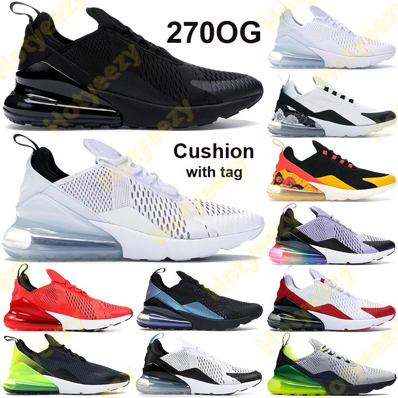 태그 270s 남자 여자 운동화 신발 트리플 플로랄 블랙 화이트 노란색 regency 보라색 쿠션 트레이닝 트레이너 먼지가 많은 선인장 정신 청록 진정한 운동화 될 수 있습니다