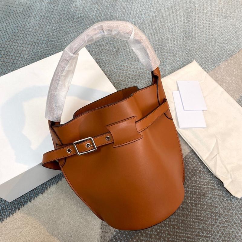 Moda Klasik Bigbag Kova Çanta Bayanlar Zarif Büyük Kapasiteli Çanta Ayrılabilir Basit Basit Katı Renk Tek Omuz Çantası CE2151616