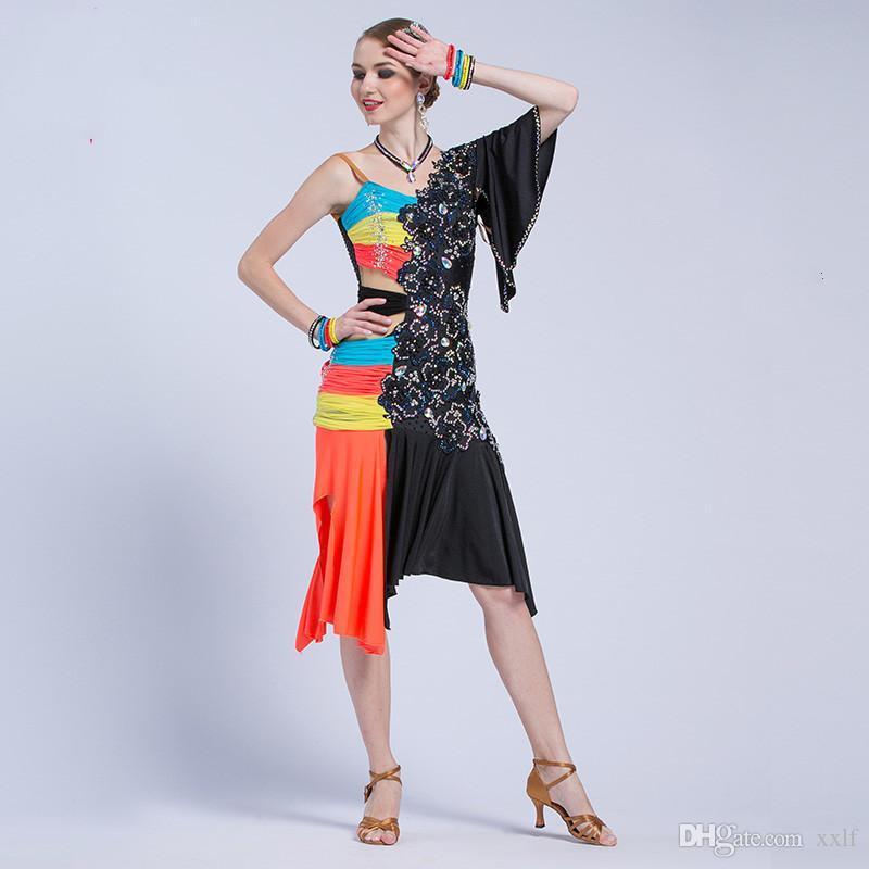 Neue nationale Norm Neue Frauen Latin Dance Kleid Damen Flamengo Tango Kleid Rumba / Chacha L17213