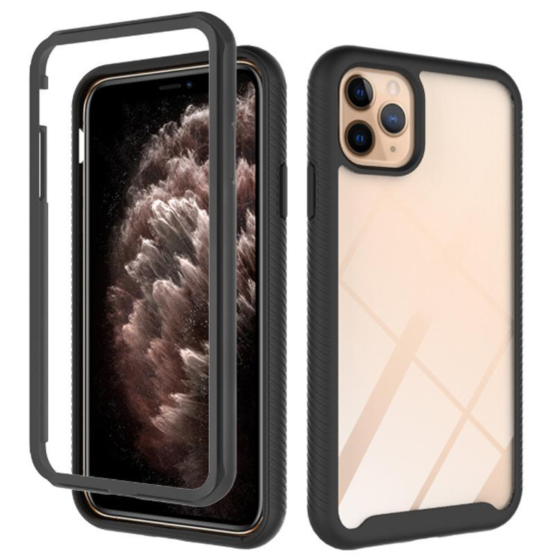 Shockproof Case For iPhone 12 11 pro 7 8 6 6S plus case TPU+PC case back cover three layers of protection