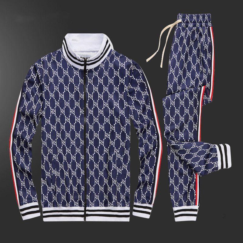 gucci Adam Giysiler 2020 Marka erkek Suit bahar Sonbahar Uzun kollu İki parçalı Seti Güz Eşofman Koşu ceketler + pantolon 0121 ARGUK Sweat