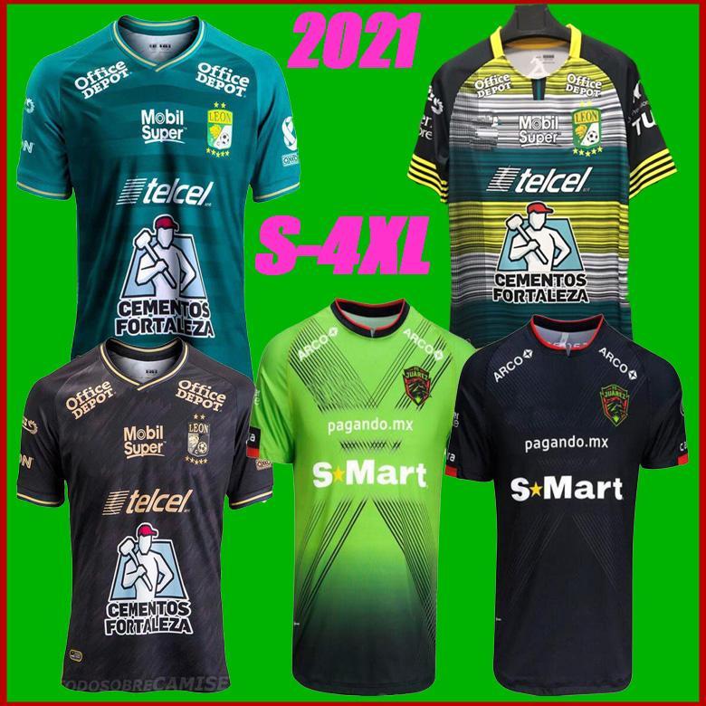 Boyut S-4XL 2020 Club Leon Futbol Formaları 20/21 FC Juarez Liga Mx Leon Away Mexico Futbol Gömlek