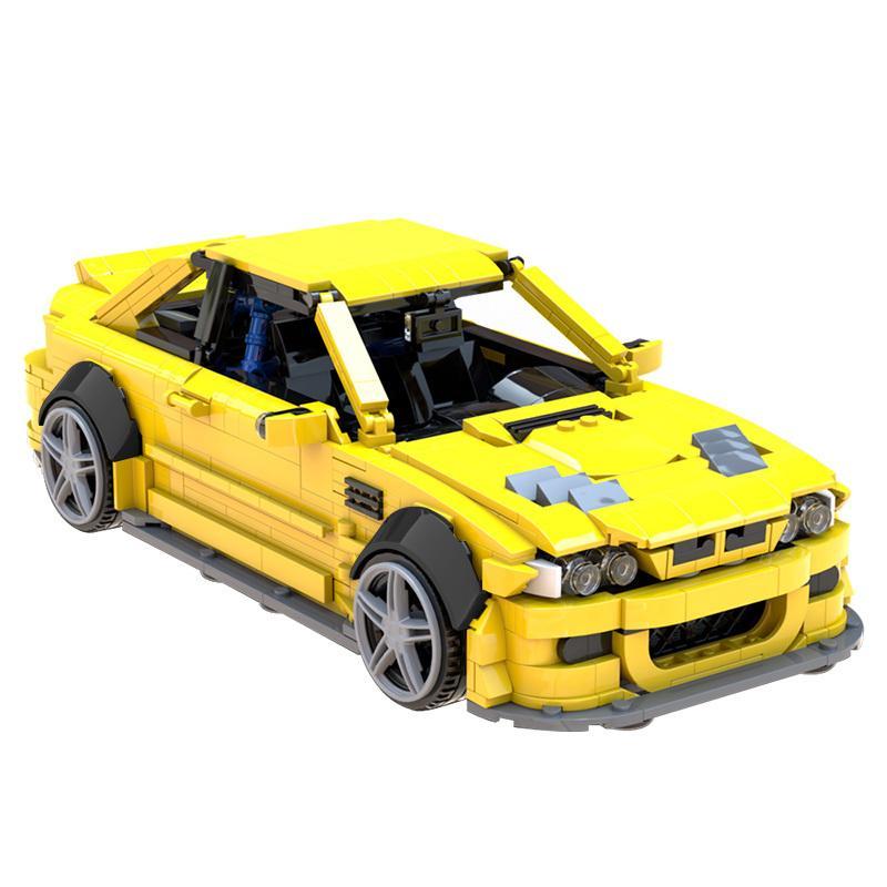 MOC-45363 Technic Mechanical Sports Car Super Racing Car Vintage Vehicle Building Blocks Bricks Giocattoli per ragazzi Adulti Gifts J1204