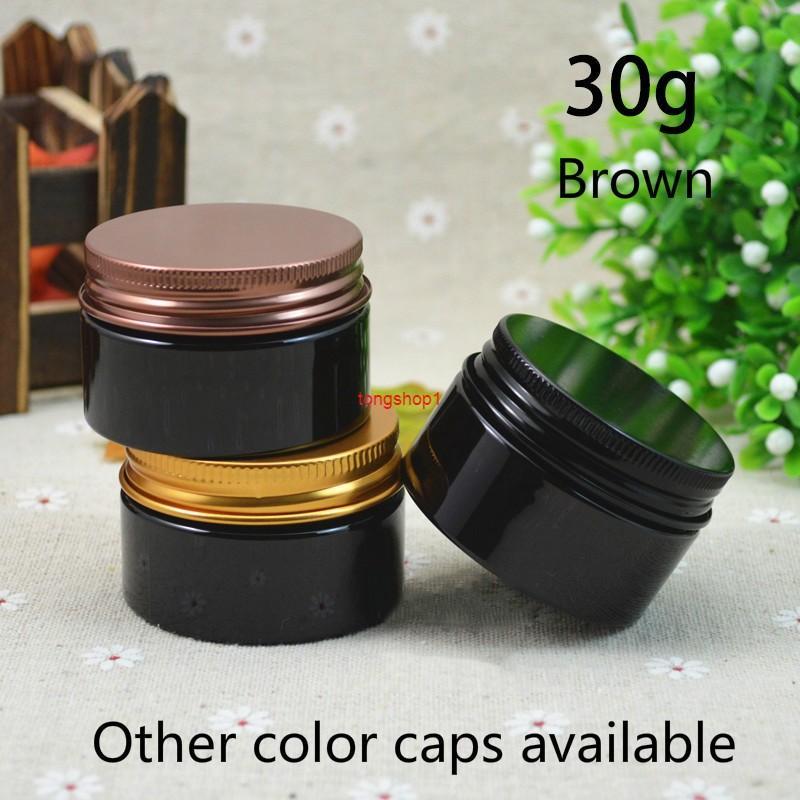30 g de plástico marrón tarro 1oz pequeño vacío contenedor cosmético maquillaje locio crema cápsula píldora café té té botella de viaje sin envío gratisEste Shippin