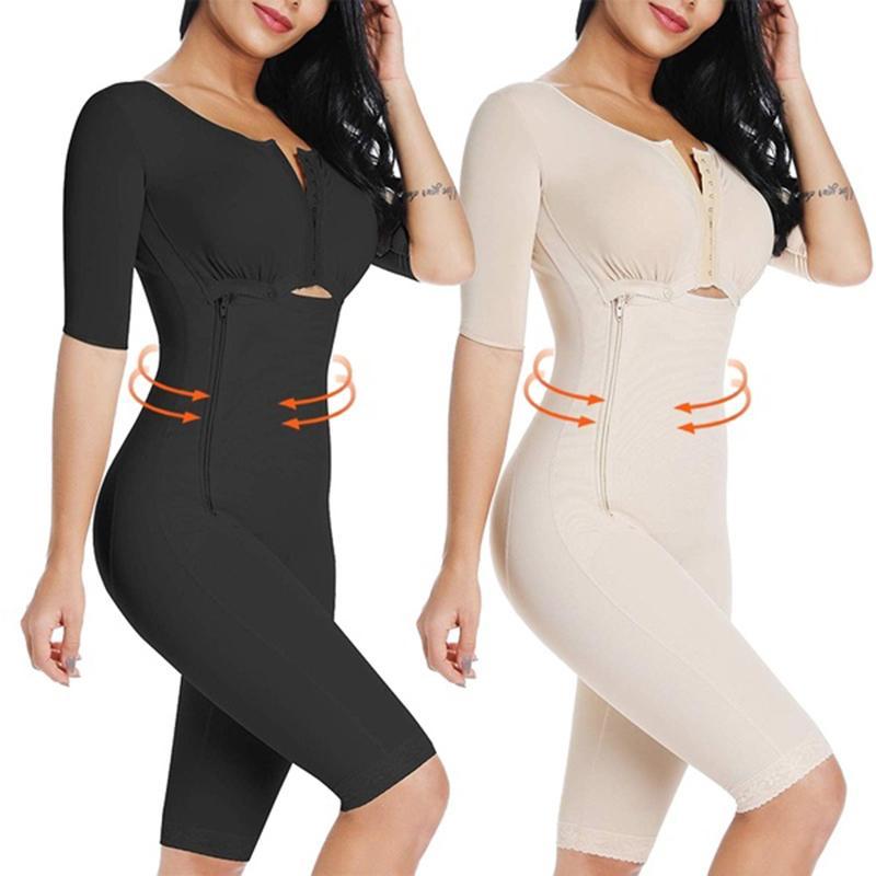 Bel Eğitmen kadın Tam Vücut Shapewear Bodysuit Post Ameliyat Sıkıştırma Konfeksiyon Firması Kontrol Vücut Şekillendirici Zayıflama Iç Çamaşırı Z1210