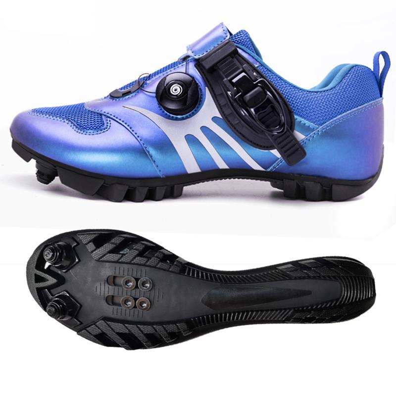 MTB Ciclismo Sapatos Sneakers Homens Profissional Mountain Bike Sapatos Luminous Road Bicycle Ultraleve Moda Ciclismo Sneakers