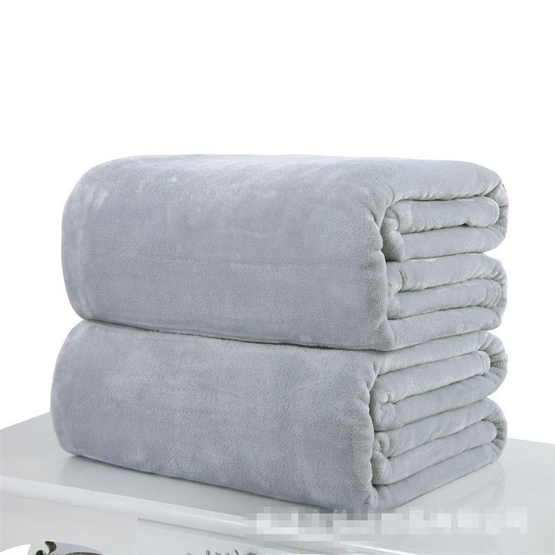 Flanel Bebek Battaniyeler Katı Renk Atmak Battaniye Yatak Yumuşak Katı Kanepe Siesta Klima Odası Belly Diz Dört Mevsim 12ZY D2