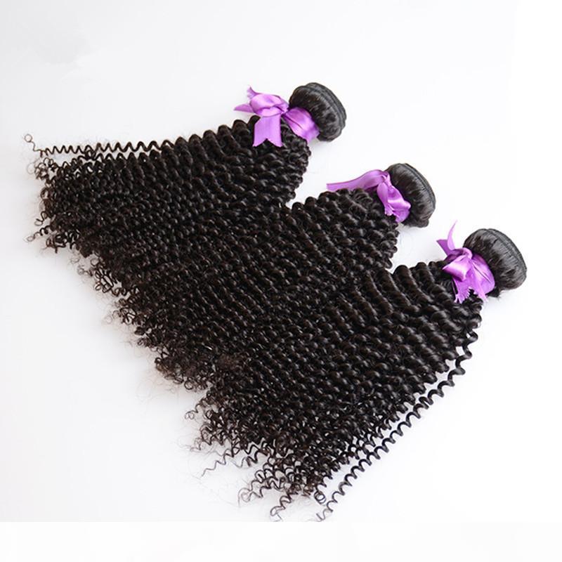 Peruano rizado 100% humano cabello humano víncino sin procesar 8A brasileño indio malayo camboyano Mongolian Kinky rizos Extensiones de cabello