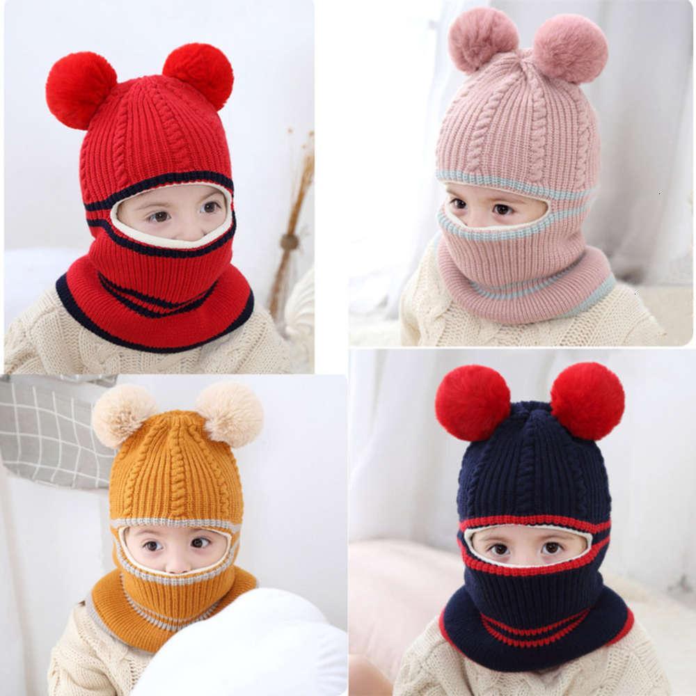 Cappello antivento e antivento per bambini per bambini in inverno integrato
