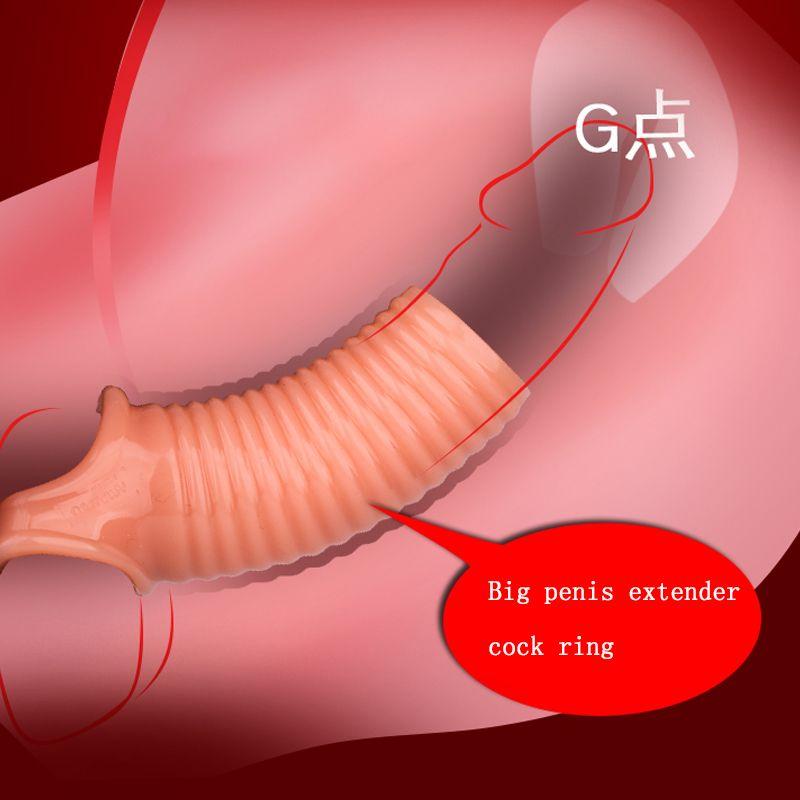 Uomini Ritardo Blocco Sperm Sperm Fine Filettata Enhancer Anello Penis Extender Manicotto Erezione Dick Cock Anello Sexy Giocattoli per gli uomini intimi