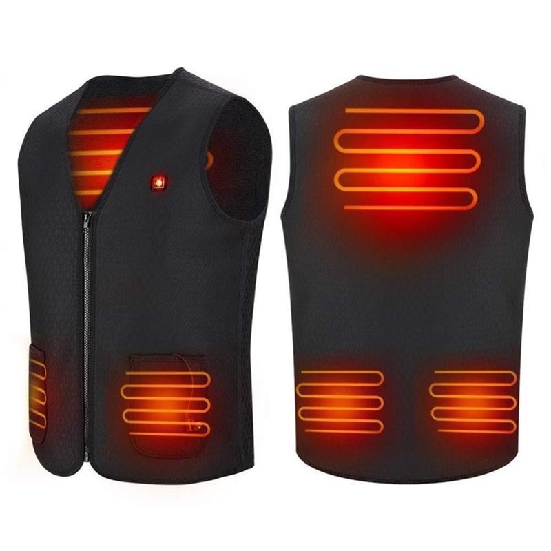 Uomini Smart Hearted USB Infrarossi Riscaldamento Elettrico Gilet Donne Donne Giacca termica flessibile per esterno Y201123