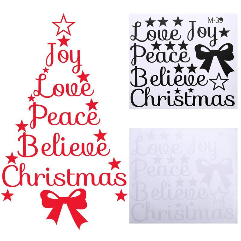 3 unids Navidad Bendición Árbol Pegatinas de Pared Arte removible Murales Calcomanías de Pared
