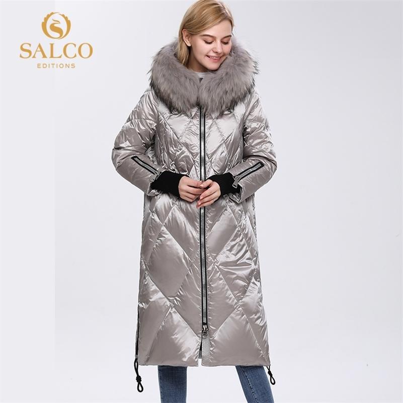 Salco GRATIS Envío El último abrigo de piel de invierno de invierno de invierno de algodón de perlas de granja grande 201214